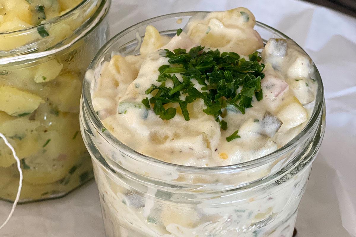 Kartoffelsalat mit Majonaise