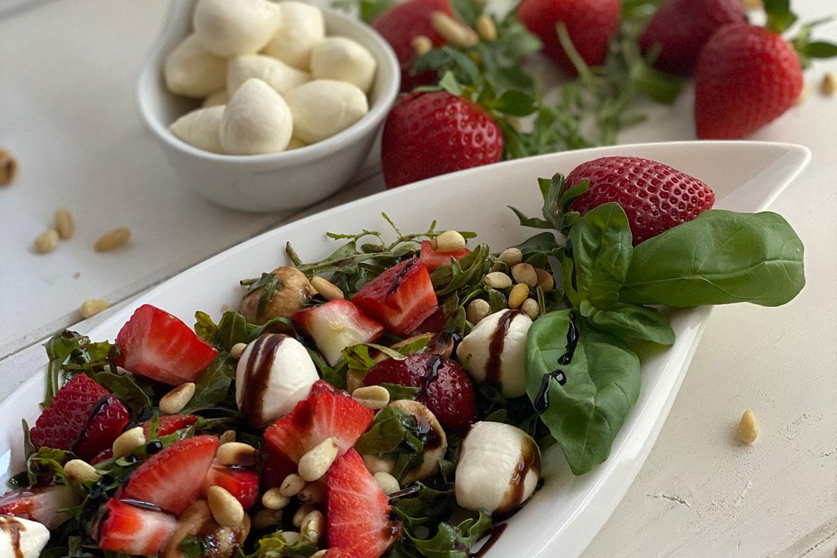 Rucola Erdbeer Salat