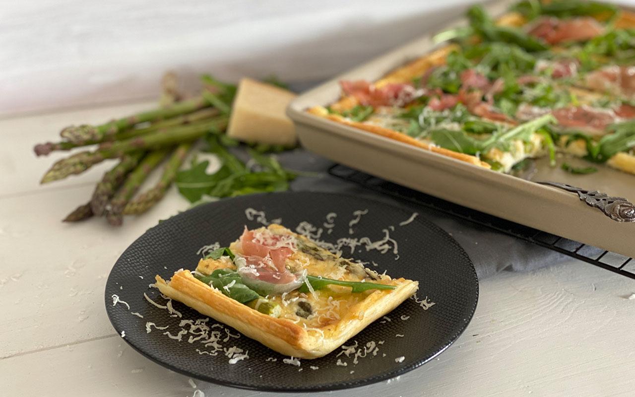 Blätterteig Spargel Tarte