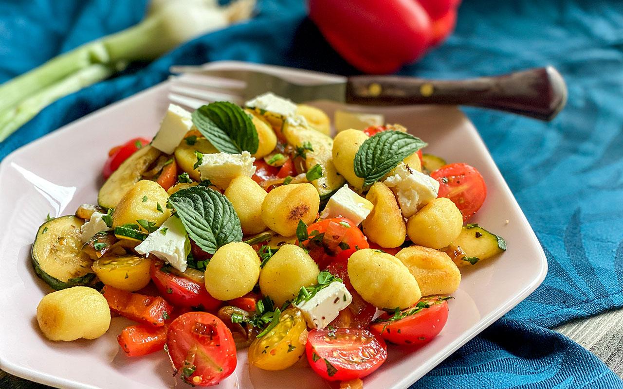 Gemüse Gnocchi Pfanne