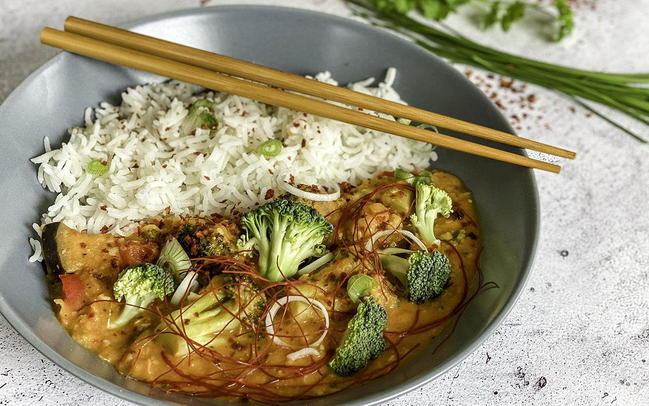 Kichererbsen Thai-Curry